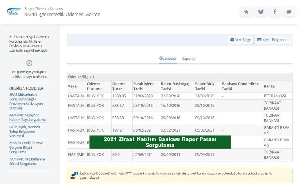 2021 ziraat katılım bankası rapor parası sorgulama