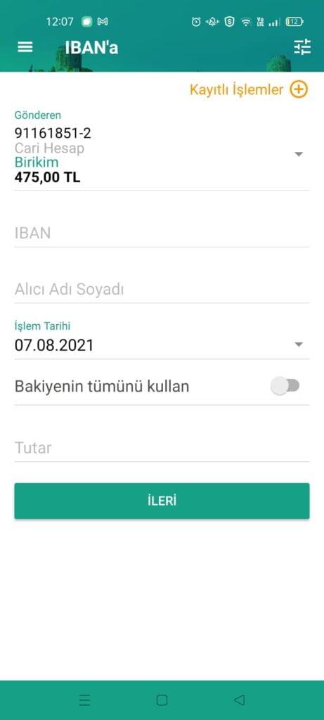 2021 kuveyt türk günlük eft limiti ne kadar?
