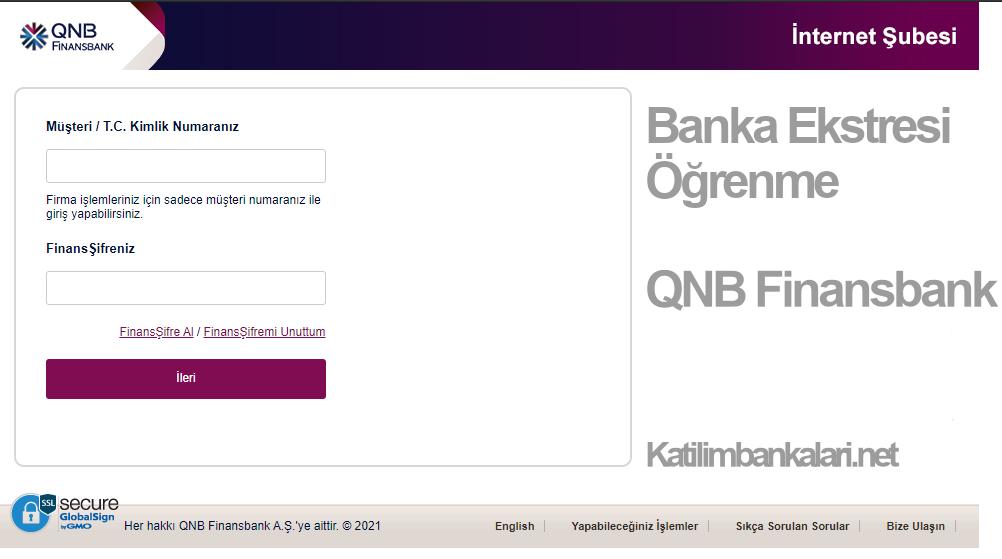 qnb finansbank ekstre öğrenme